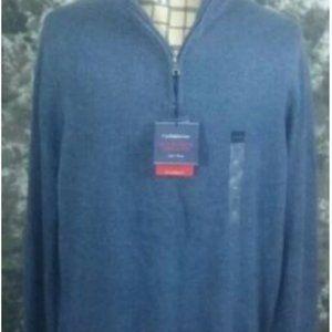 roft & Barrow blue mock neck sweater